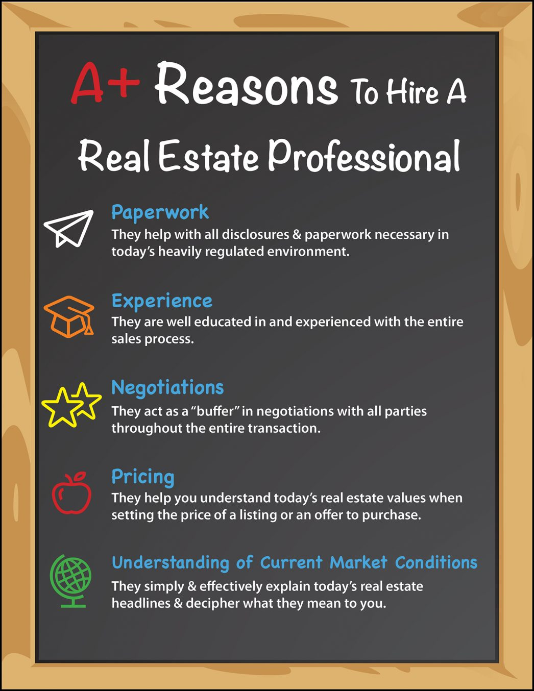 Top 5 A+ Reasons to Hire a Real Estate Pro [INFOGRAPHIC] | MyKCM